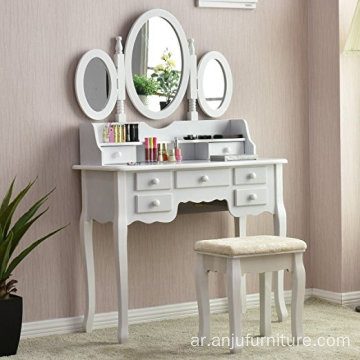 Bedroom set Wooden MDF New Vanity Hand Carved Wood Dressing Table