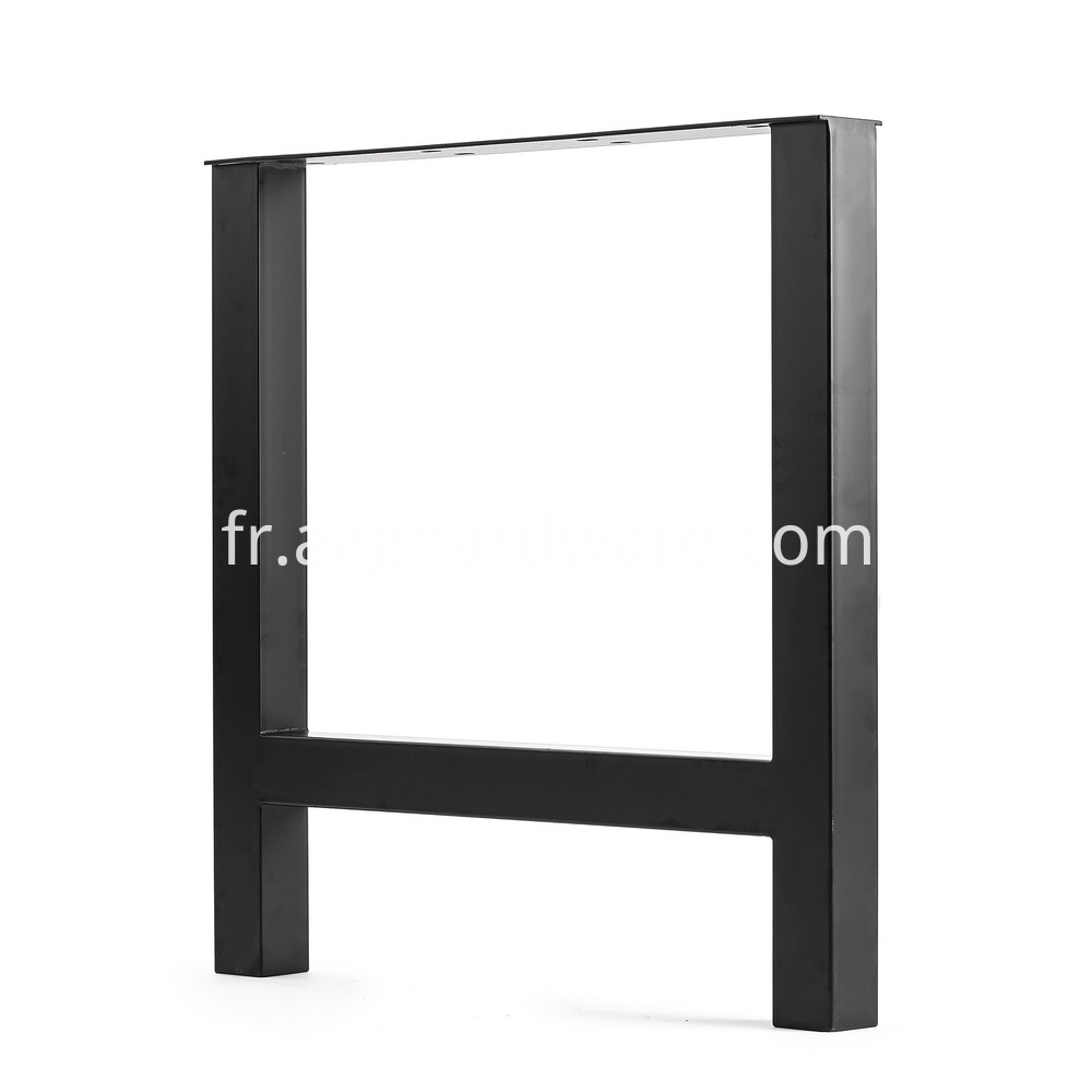 Metal Black Powder Coating Finish Dining Table 1