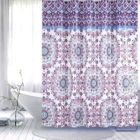 Shower Curtain PEVA Purple Flower