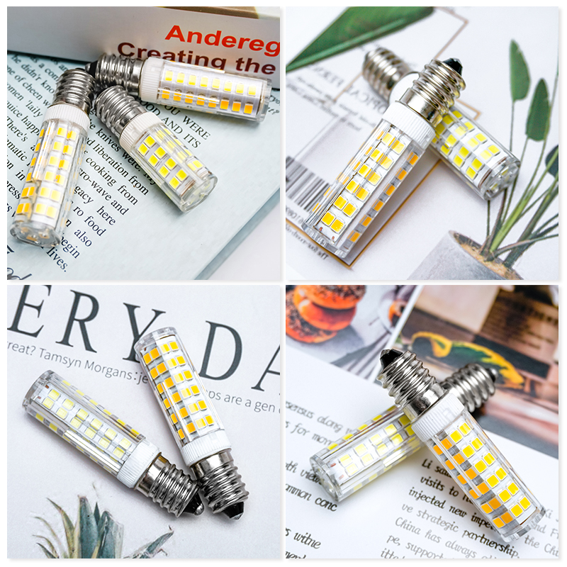 2pcs/lot Mini E14 LED Lamp 3W 4W 5W 7W AC 220V 230V 240V LED Corn Bulb SMD2835 360 Beam Angle Replace Halogen Chandelier Lights