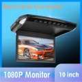 10.1/12.1 inch Flip Down Monitor 1080P HD Player FM Ultra Thin Car DVD Player 2-Way Video Input Car Roof Mounted TFT LCD Monitor
