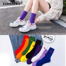 New Product Trend Autumn/Winter Cotton Hip Hop Happy Socks Personality Harajuku Dinosaur Grid Tide Socks Breathable Sox