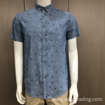 Male TC print short sleeve shirt