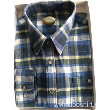 Flannel Fabric Long Sleeve Shirt