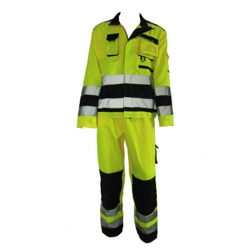 Fluorescence Green Reflective Work Suit