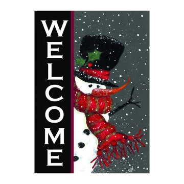 Hot selling snowman welcome merry christmas garden flag