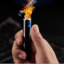 Mini LED Smart Touch USB Electrical Lighter Finger Touch Induction Cigarette Lighter Light Weight Plasma Lighter Gadgets For Men
