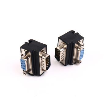 Audio Video Cables Right Angle 90 Degree 9 Pin VGA SVGA Male to Female Converter Angle Adapter