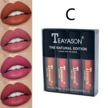 4PCS Matte Lip Gloss Set Lip Glaze Lipstick Kit For Ladies Gifts Waterproof Makeup Products Wholesale