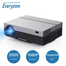 Everycom T26L Full HD Projector 1920x1080P Projector Portable 5500 Lumens Beamer Proyector Home Theater Movie HDMI-compatible