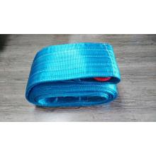 Blue Polyester Sling 8,000kgs Breaking Strength With Lifting Hook