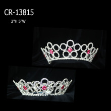 Rhinestone Full Round Pageant Crowns And Tiaras