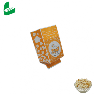Oil-proof microwave popcorn paper packaging bag