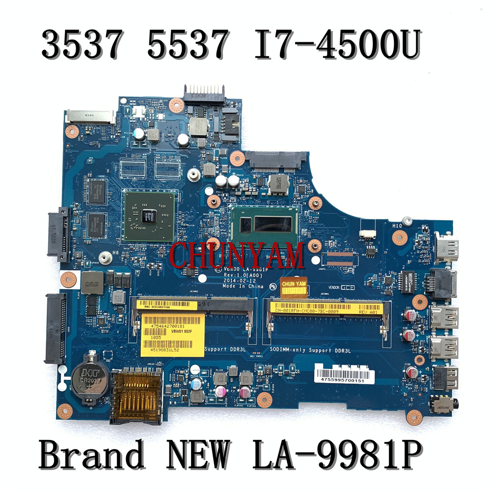 BRAND NEW LA-9981P for Dell Inspiron 15R 3537 5537 Laptop motherboard I7-4500U HD8670M mainboard CN-001RFH 01RFH 100%tested