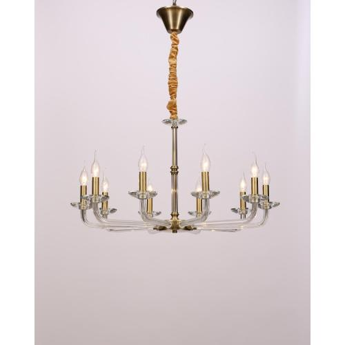 Individuality Minimalist Fashion Glass Iron Chandelier