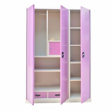 Pink Purple Steel Wardrobe