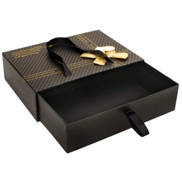 Shoe Box Sliding Drawer Box With Ribbon Handle