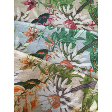 Texture Flower Rayon Challis 30S Air-jet Printing Fabric