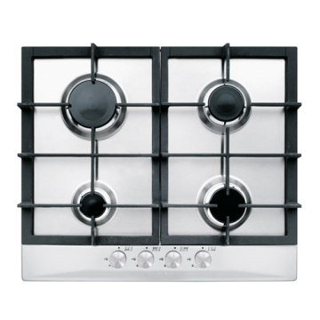 Stainless Steel Glem Hobs 4 Burner Gas