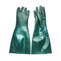 Green PVC coated gloves 18'' jersey linnig