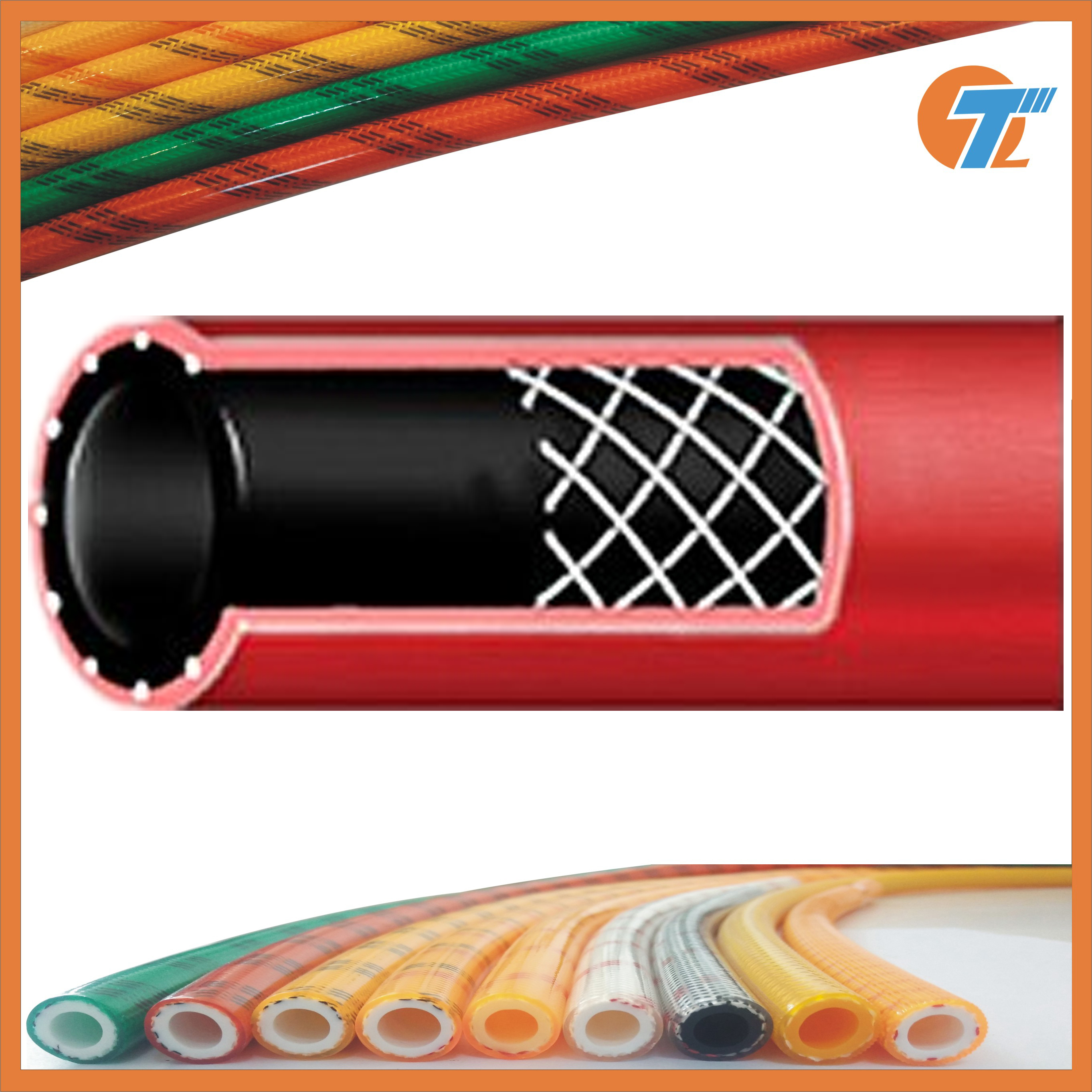 100m Length 0.75 inch ID Red 200 psi Horizon Rubber Air Water Hose