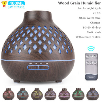 Electric Aroma Remote control Air Diffuser Wood Grain Ultrasonic Air Humidifier Maker With LED night Light For Home