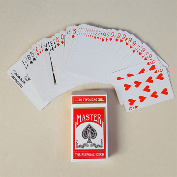 Plastic material advertising poker with custom logo