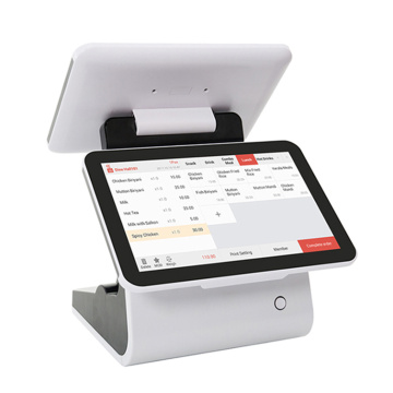 Dual touch screen restaurant pos system