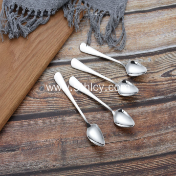Stainless Steel With Serrated Spoons