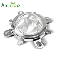3pcs 1 Set 44mm LED Lens Optical Glass 60 120 Degree + 50mm Reflector Collimator + Fixed Bracket for 20W 30W 50W 100W COB Chip