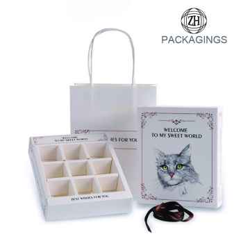 White 9 Packs Drawer Chocolate Box