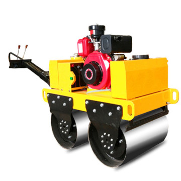 High quality double steel wheel road roller