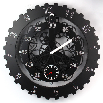 Black Metal Big Gear Wall Clock