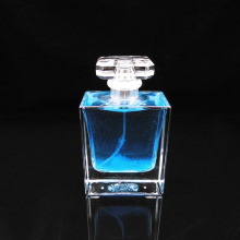 100ml square bottle transparent spray glass perfume bottle
