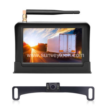 Vehicle Reversing Aid  5Inch Digital Wireless Monitor Reverse Parking Camera System