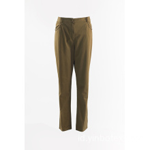 Celana lurus Ladies Dark Khaki