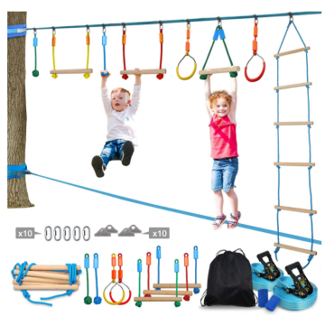 GIBBON Ninja Warrior Obstacle Course for Kids Ninja Slackline