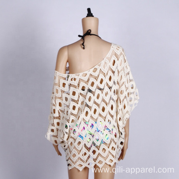 casual crochet mesh beachwear women cover up clothes