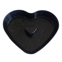 Black color heart shape cake mold baking pans
