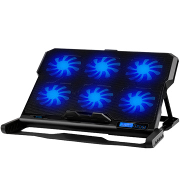 13-16 Inch Laptop Cooling Pad Laptop Cooler Six Cooling Fan 2 usb Ports Laptop Cooling fan pad Notebook Stand