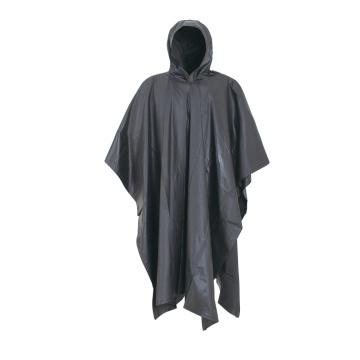 Adult PVC Rain Poncho With Logo Printed