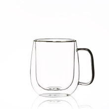 High Resistance Double Wall Glass Coffee Cup 450ml