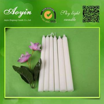 home lighting white stick candle for wholesale