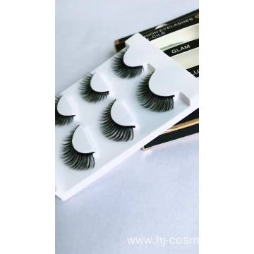 Double 3D Silk Faux Mink Fake Premium Synthetic False Eyelashes