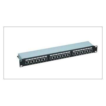 1U 24 ports CAT6 patch panel