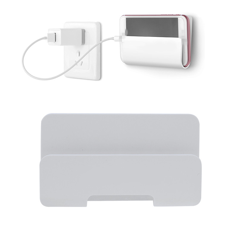 Universal Wall Mount Stand Rack for Mobile Phone Tablet PC Sticky Adhesive Hanging Charging Box Holder Bracket Shelf for Pads