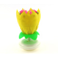 High quality rotaing lotus flower shaped candle