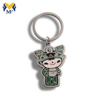 Factory custom souvenir enamel keychain with logo
