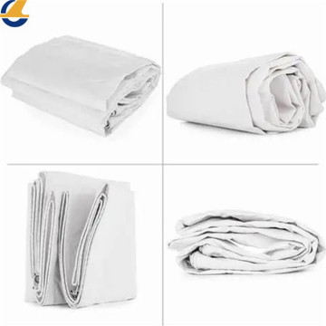 Soft breathable white cotton tarpaulins