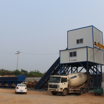 Mini cement 60m3 belt conveyor concrete batching plant